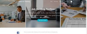 Image of course enrolment page for job hunting toolbox