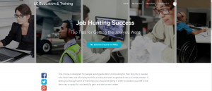 Image of course sales page showing how to enrol on Job Hunting Success