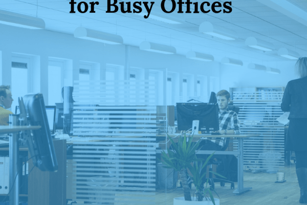 Showing a busy office